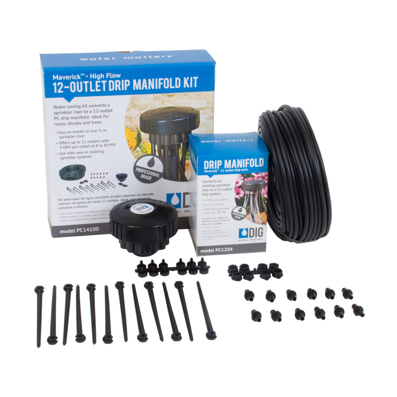 12-Outlet High Flow Drip Manifold Kits