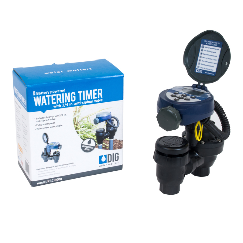 "Battery Operated Timer with 3/4"" Anti-Siphon Valve"