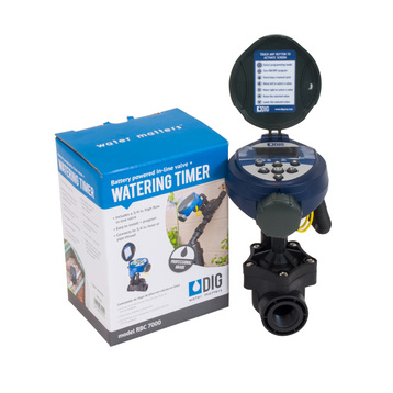 "Battery Operated Timer with 3/4"" In-line Valve"